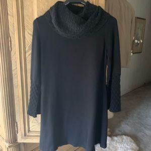 Alfani Black Cowelneck Bell sleeve Tunic Sweater